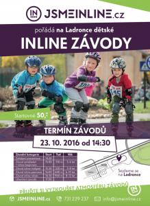 Dětské inline závody 23.10. od 14:30 hodin
